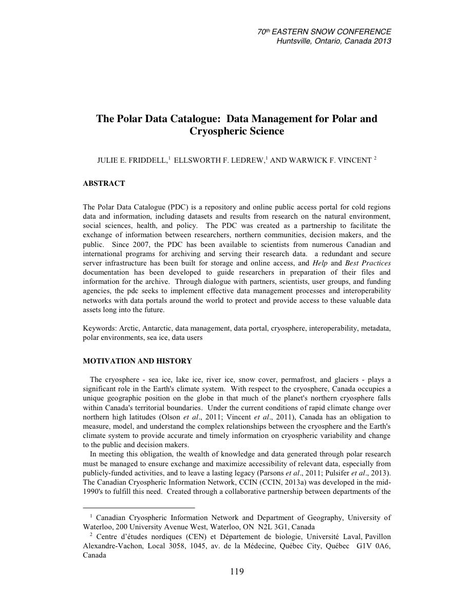 publications ccin friddell et al eastern snow conference proceedings 2014