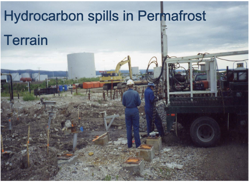 Hydrocarbon Contaminants in Freezing Ground and Permafrost Terrain