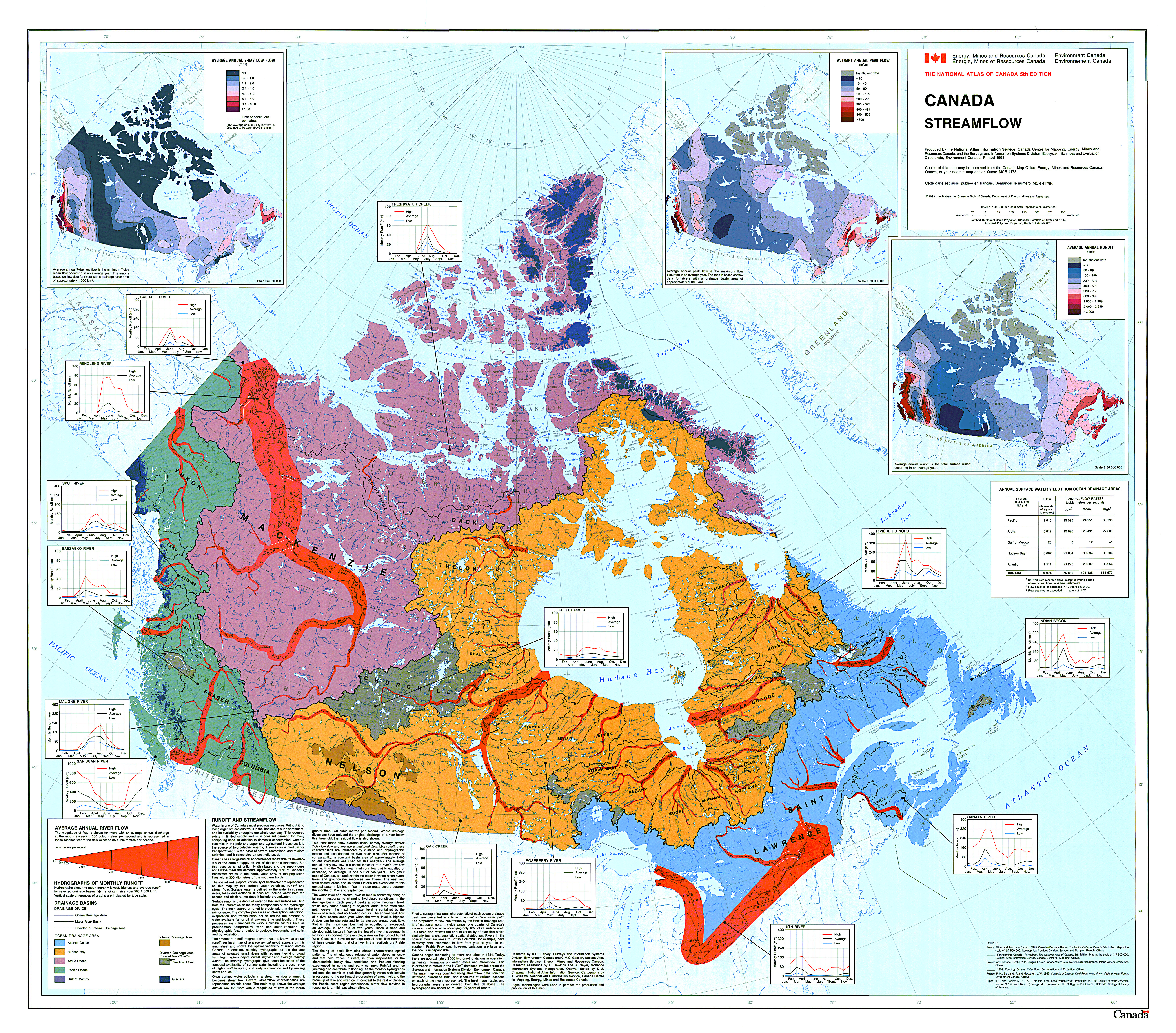 river map with canada - photo #21