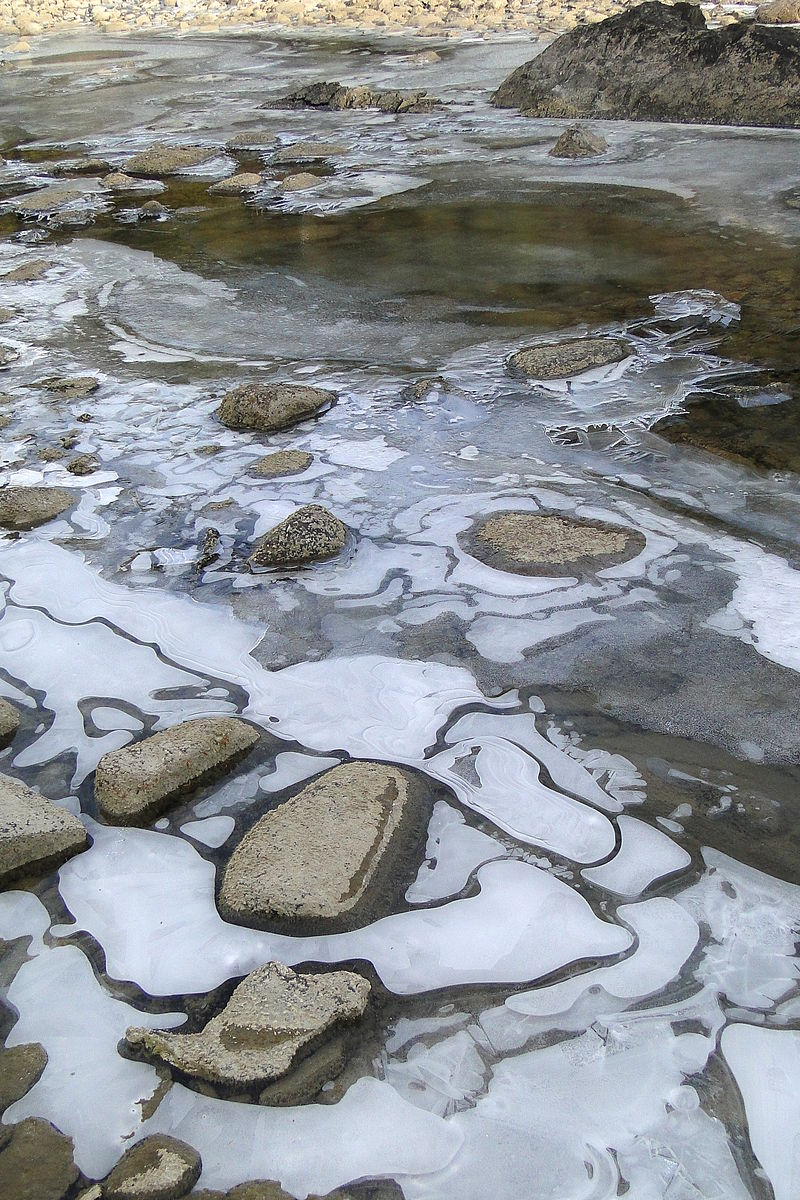 River ice forming