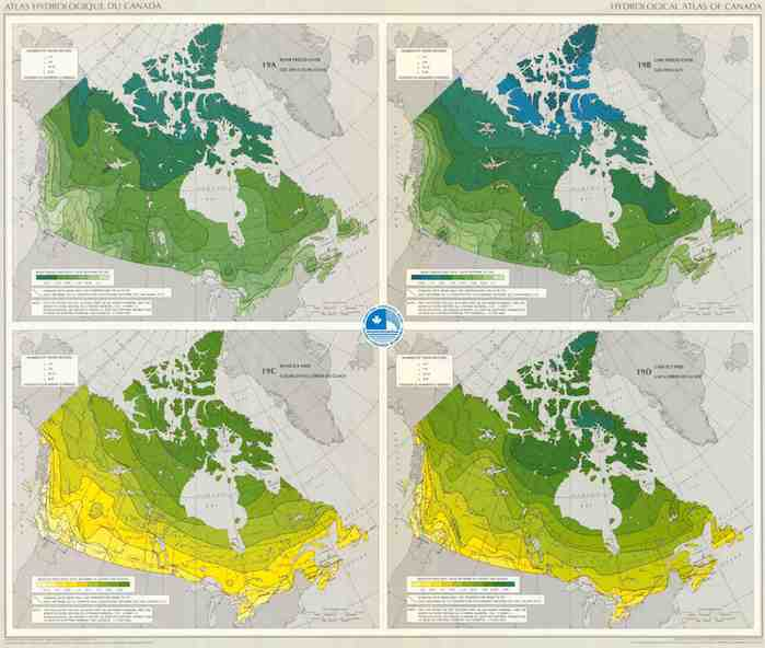 Hydrological Atlas of Canada lake and river ice map