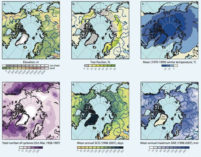 Characteristics of Arctic snow cover by SWIPA, 2011